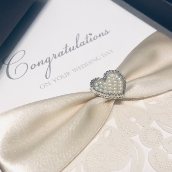 Luxury Congratulations on your Wedding Day Boxed A5 Card Custom Made