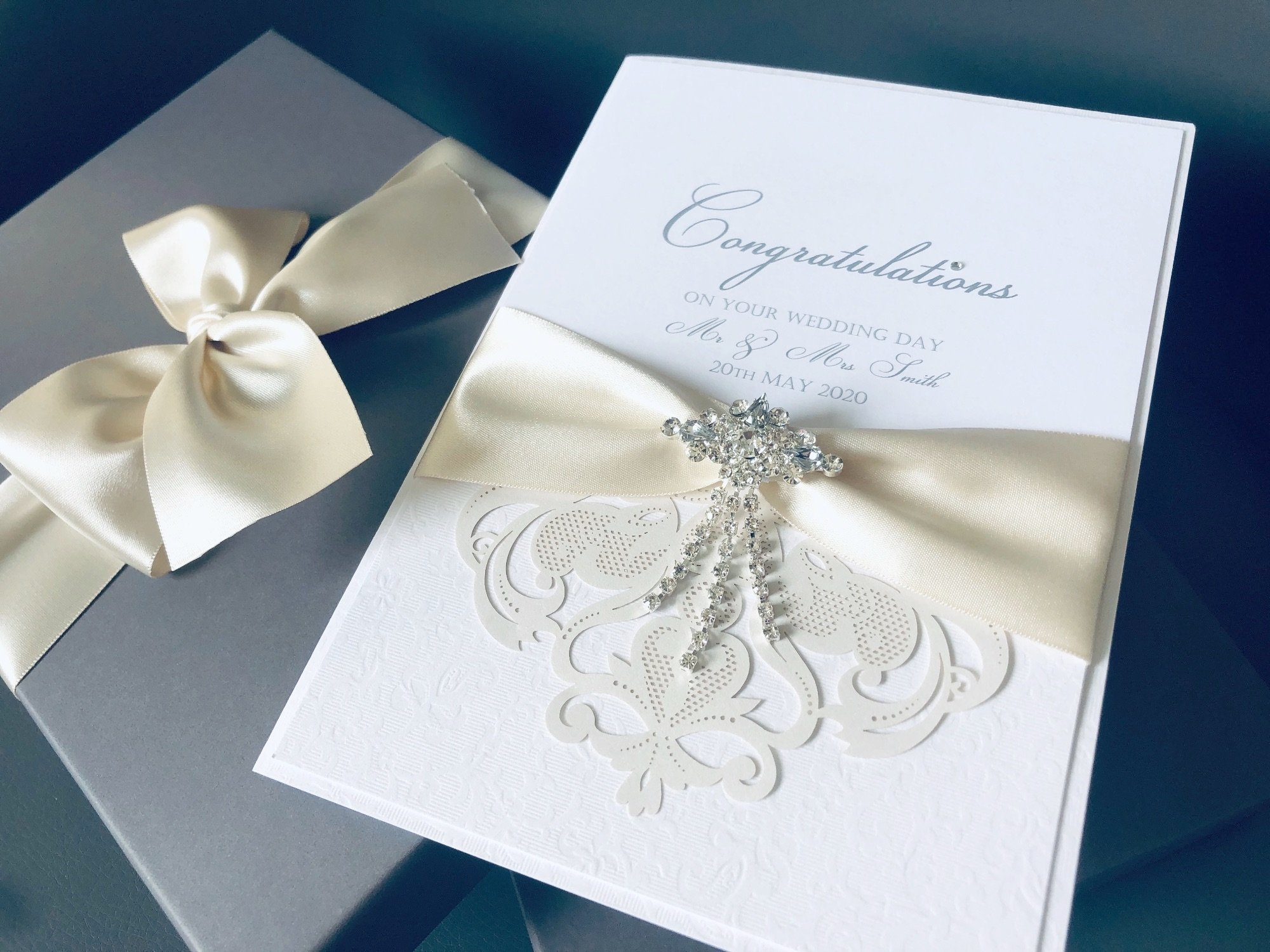 Luxury Congratulations Wedding Day Personalised boxed cards