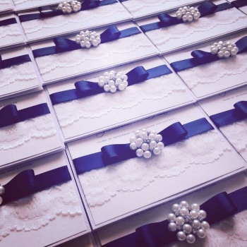 Chloe Vintage Wedding Invitation Sample