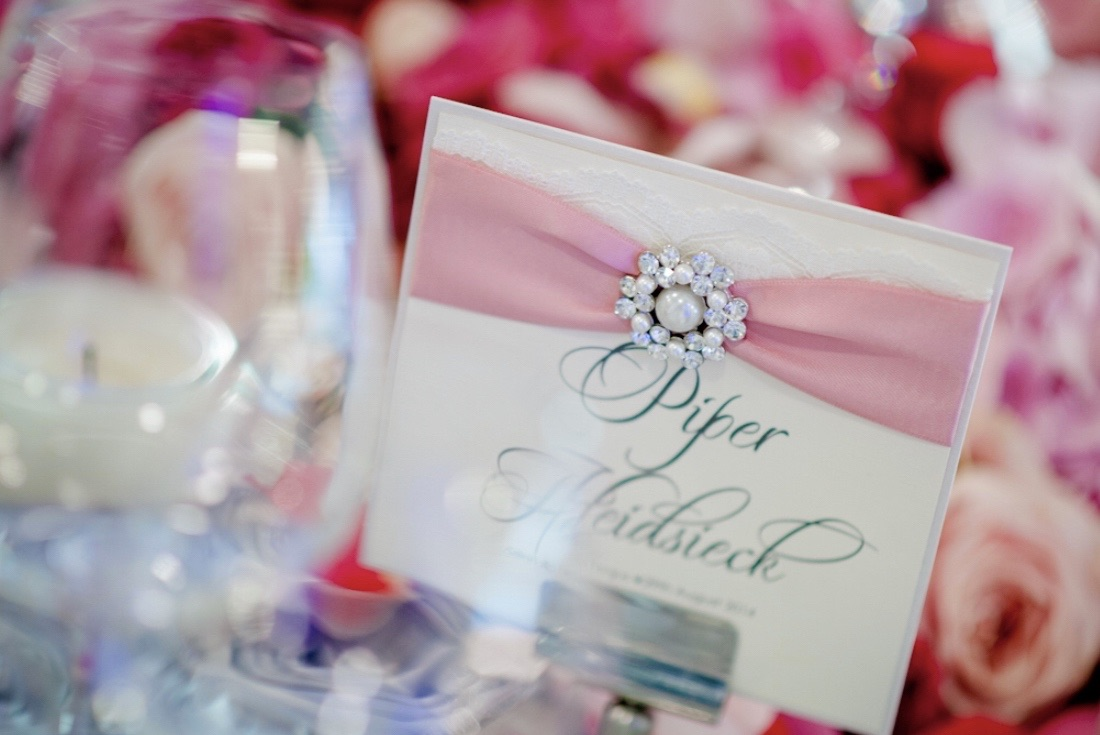 Stationery for ceremony and  wedding reception