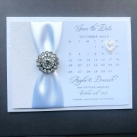 Diamante Save the Date Card Romance Collection