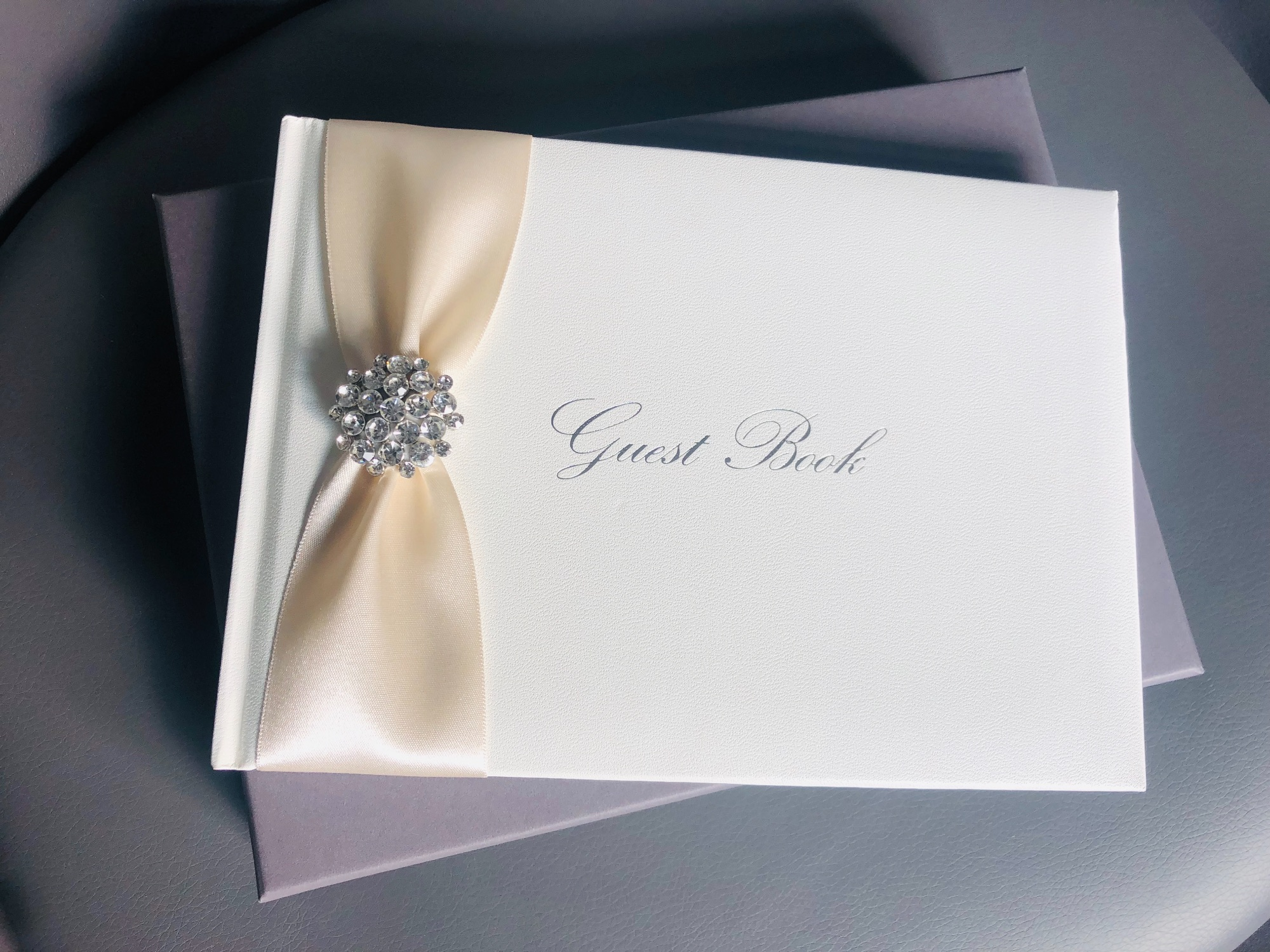 Personalised diamante guest book