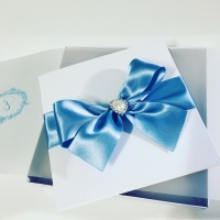 Beautiful Bows Wedding Invitation Sample
