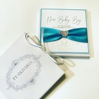 New Baby Personalised Luxury Card with Gift Box
