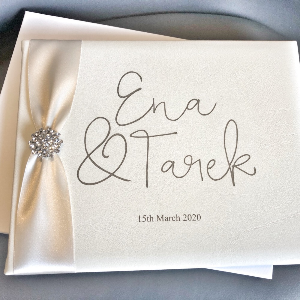 Personalised Leather A4 Guest Book