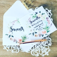 Bridesmaid Thank you Card - Natural Wreath Design