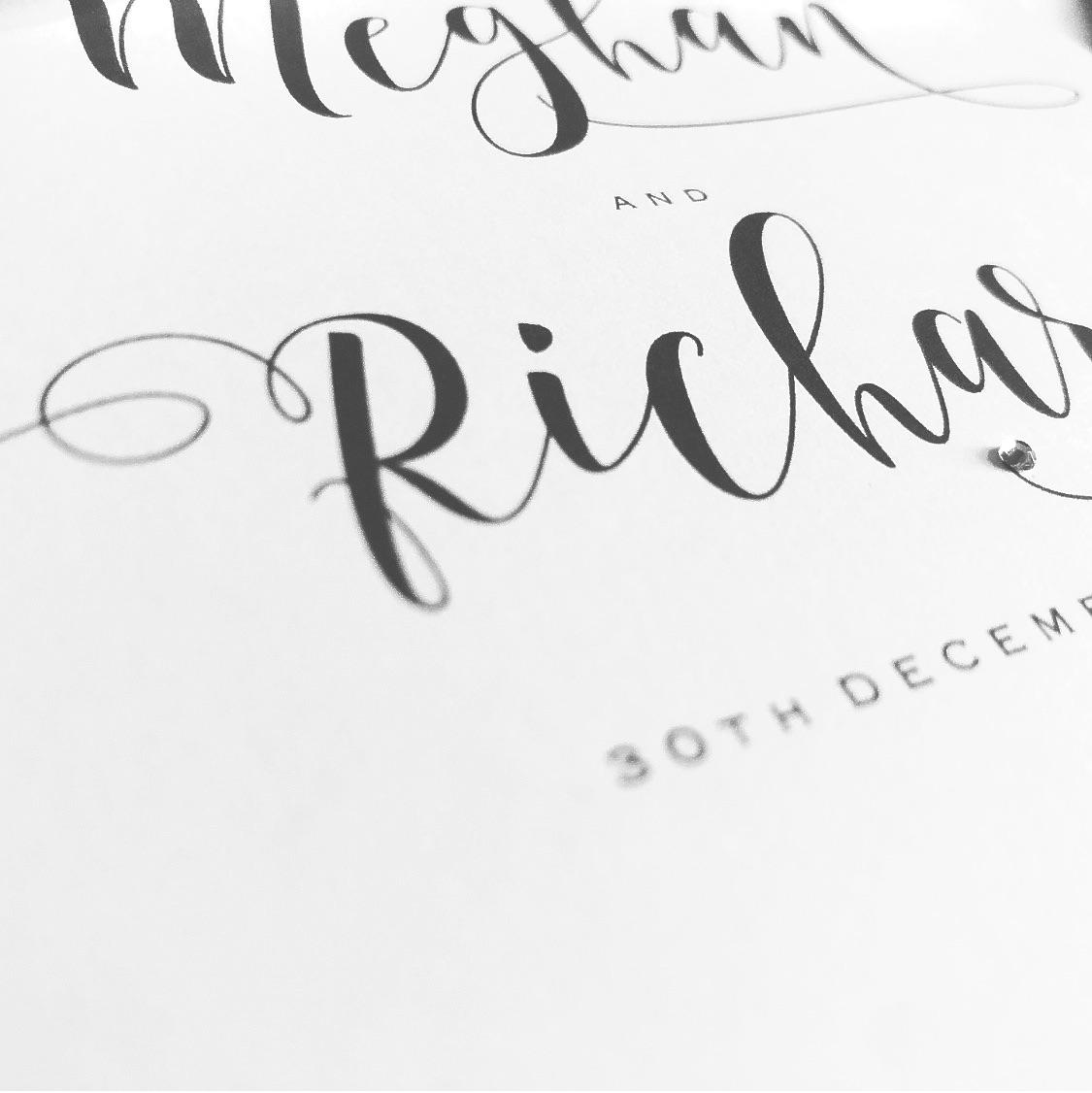 scripted font wedding invitation