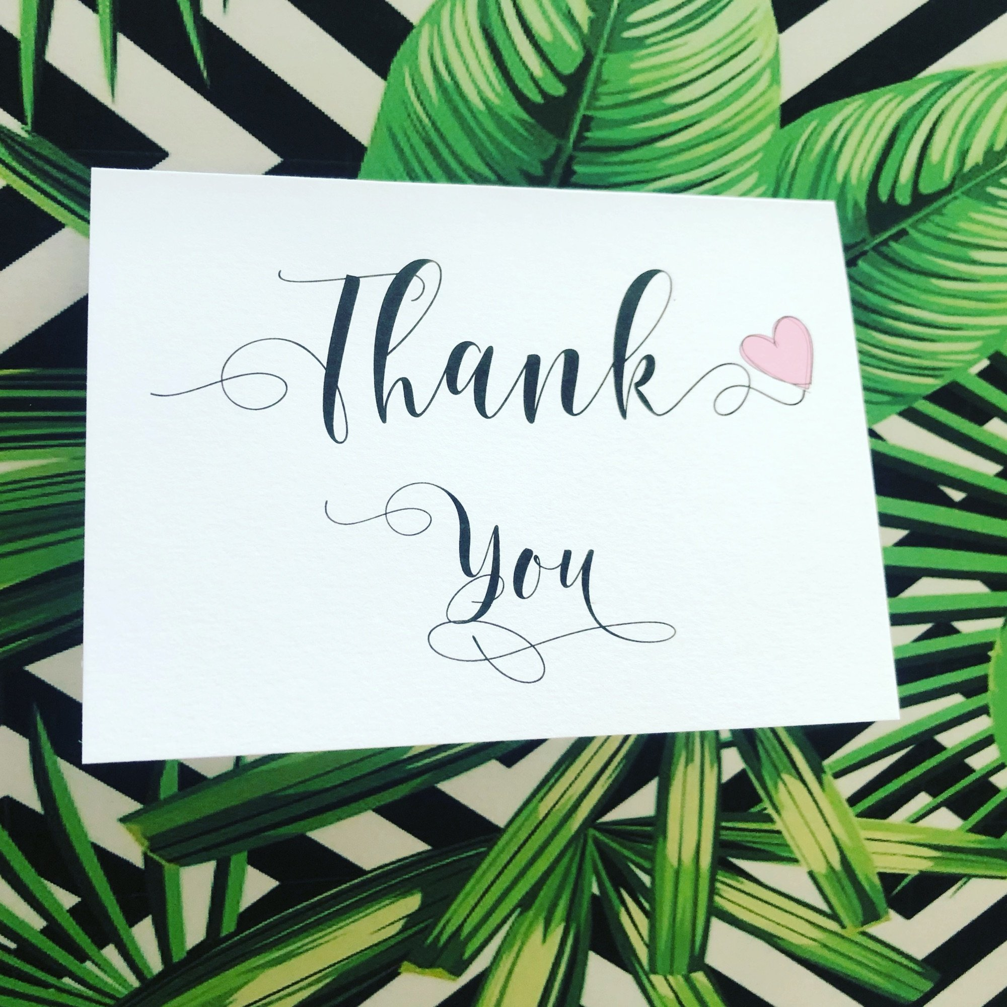 10 pack Thank you wedding cards