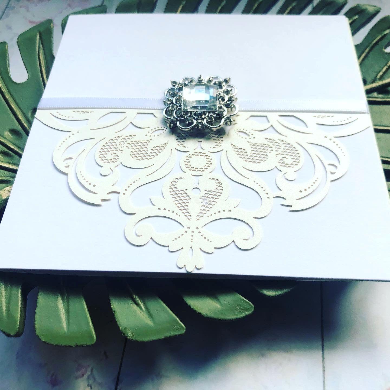 Crystal vintage invitation