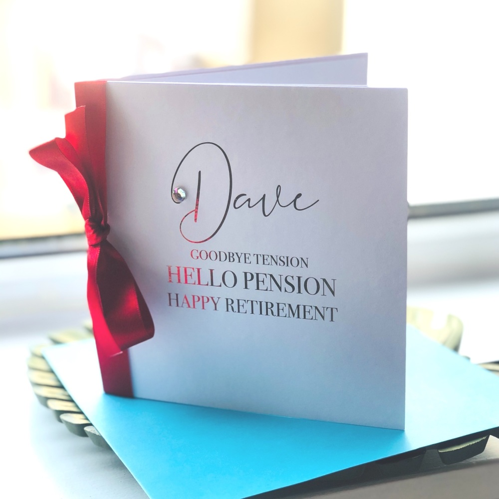 Happy Retirement Tension Pension Card
