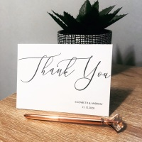 10 Personalised Thank You Wedding Cards