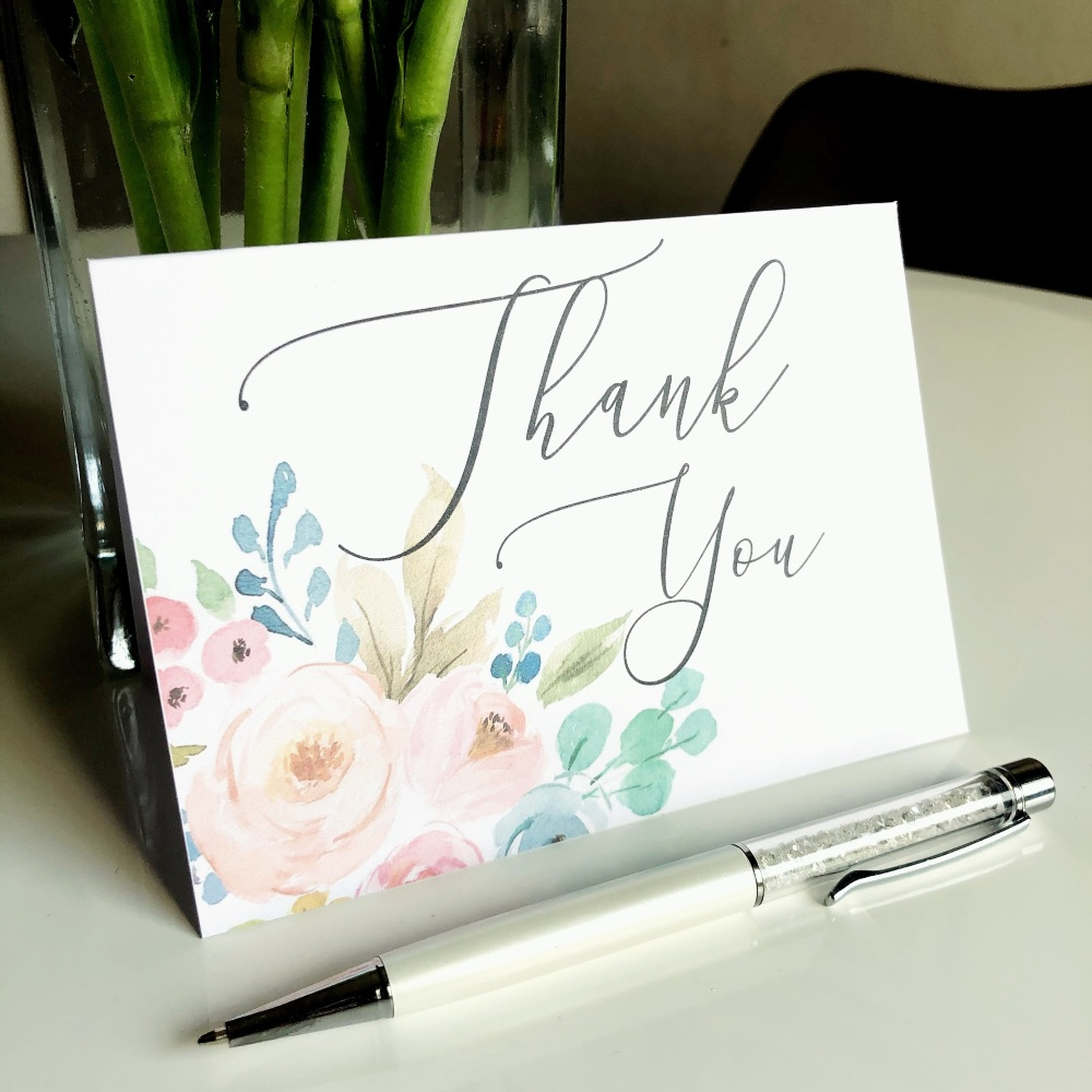 10 Floral Thank You Wedding Cards