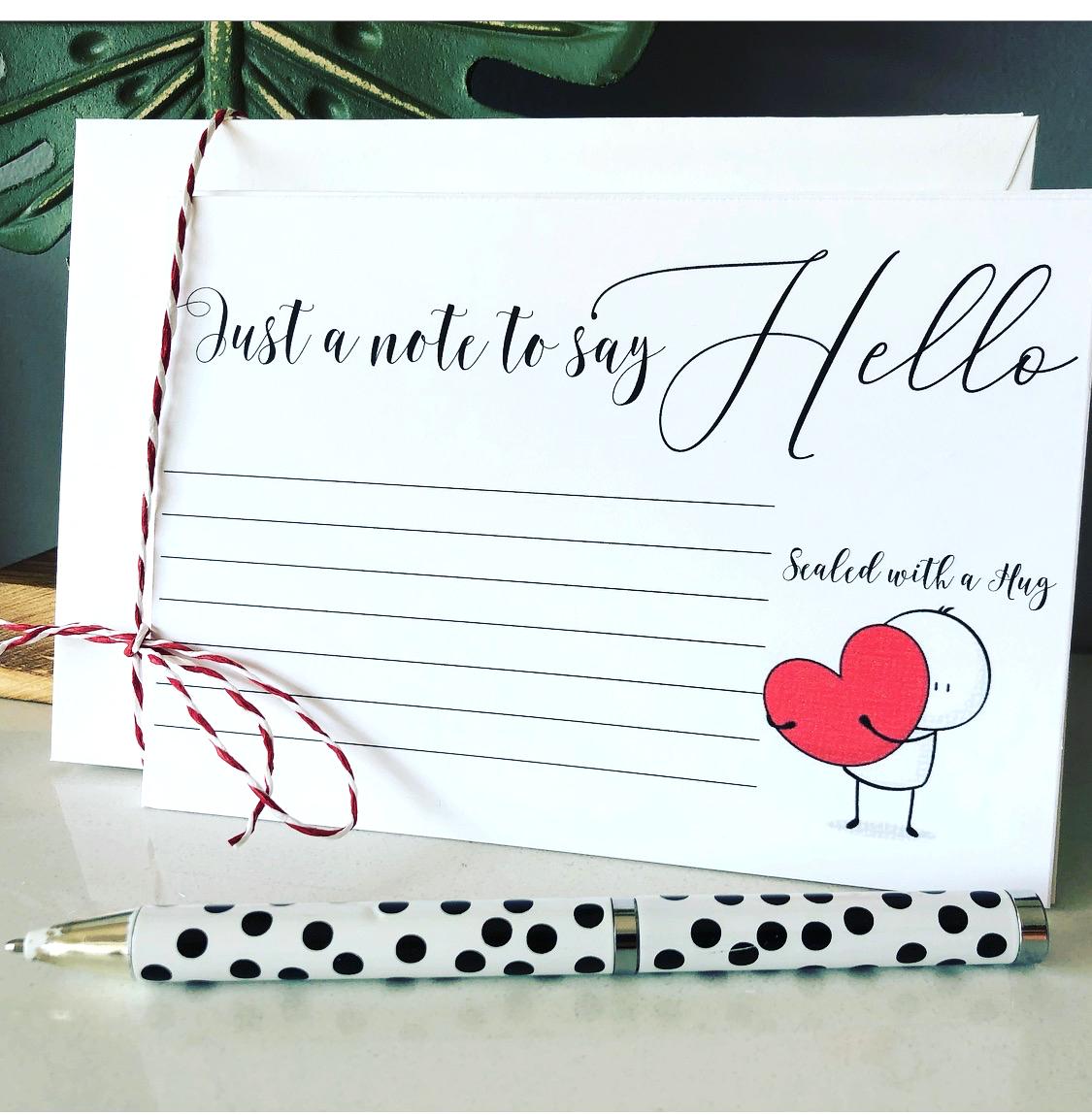 Hug Postcard Note Cards