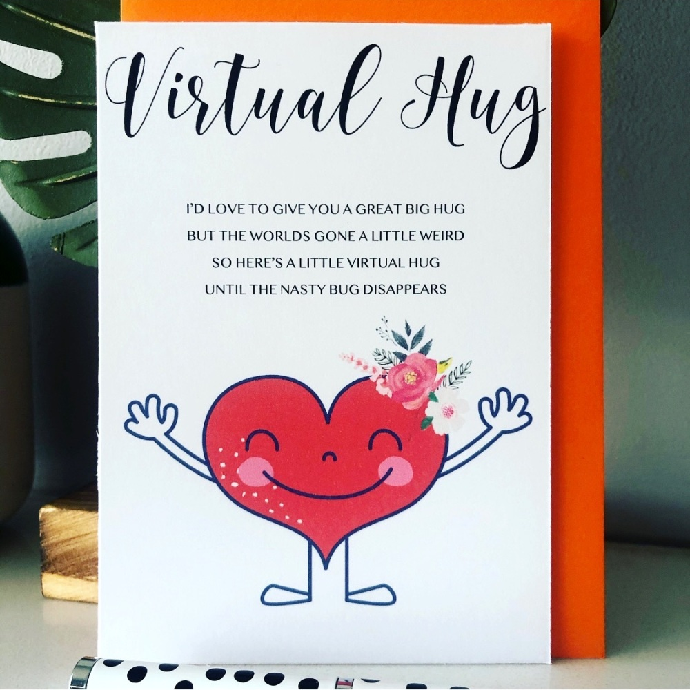 10 Virtual Pocket Hug Poem Cards with Envelopes