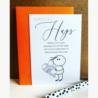 10 Paper Pocket Hugs Poem Cards with Envelopes