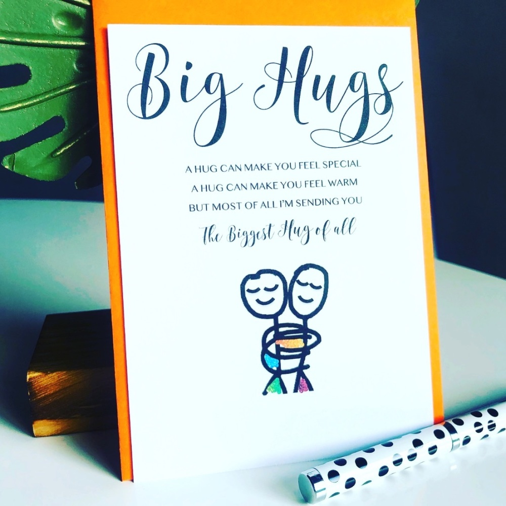 10 Sending Big Hugs Cards Hug Gift Postcards