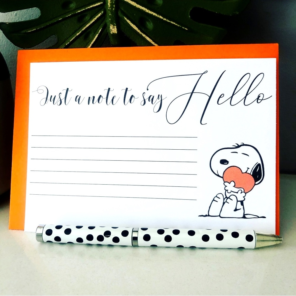10 Hello Notelet Blank Postcards Set with Envelopes
