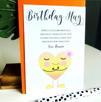 5 Birthday Virtual Hugs Poem Cards with Envelopes