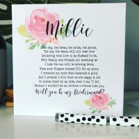 Bridesmaids Poem Will you be my Bridesmaid Card