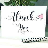 10 Thank you Blank Wedding Cards Pack