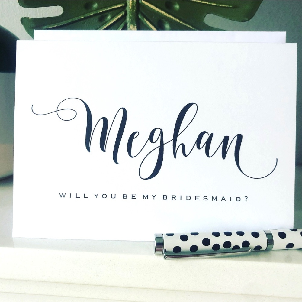 Contemporary Will you be my Bridesmaid Card