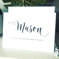 Contemporary Will you be my Best Man Card