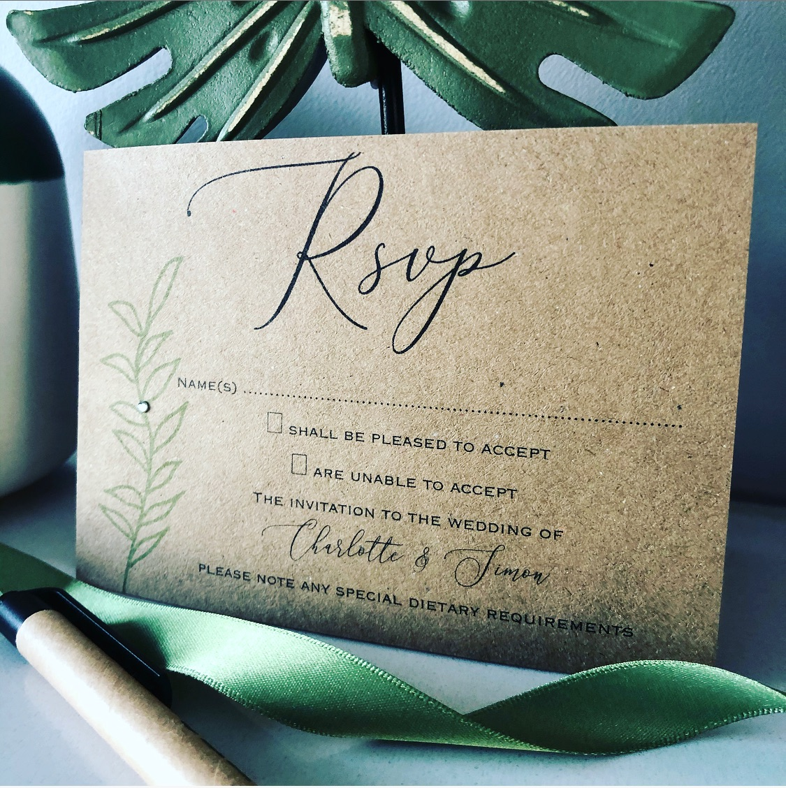 Rustic RSVP card