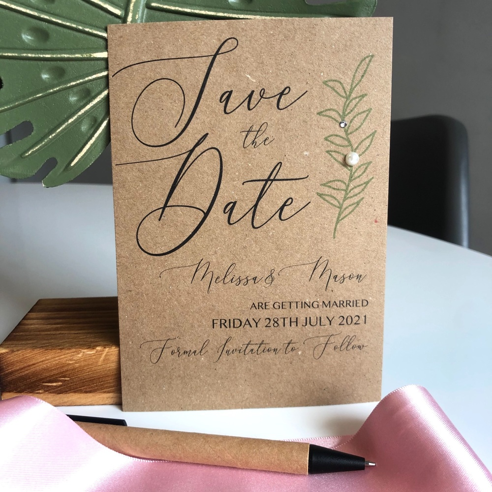 10 Modern Rustic Save the Date Cards