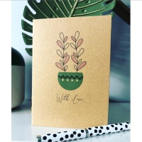 Rustic Garden Plants Botanical Blank Cards Multipack of 6