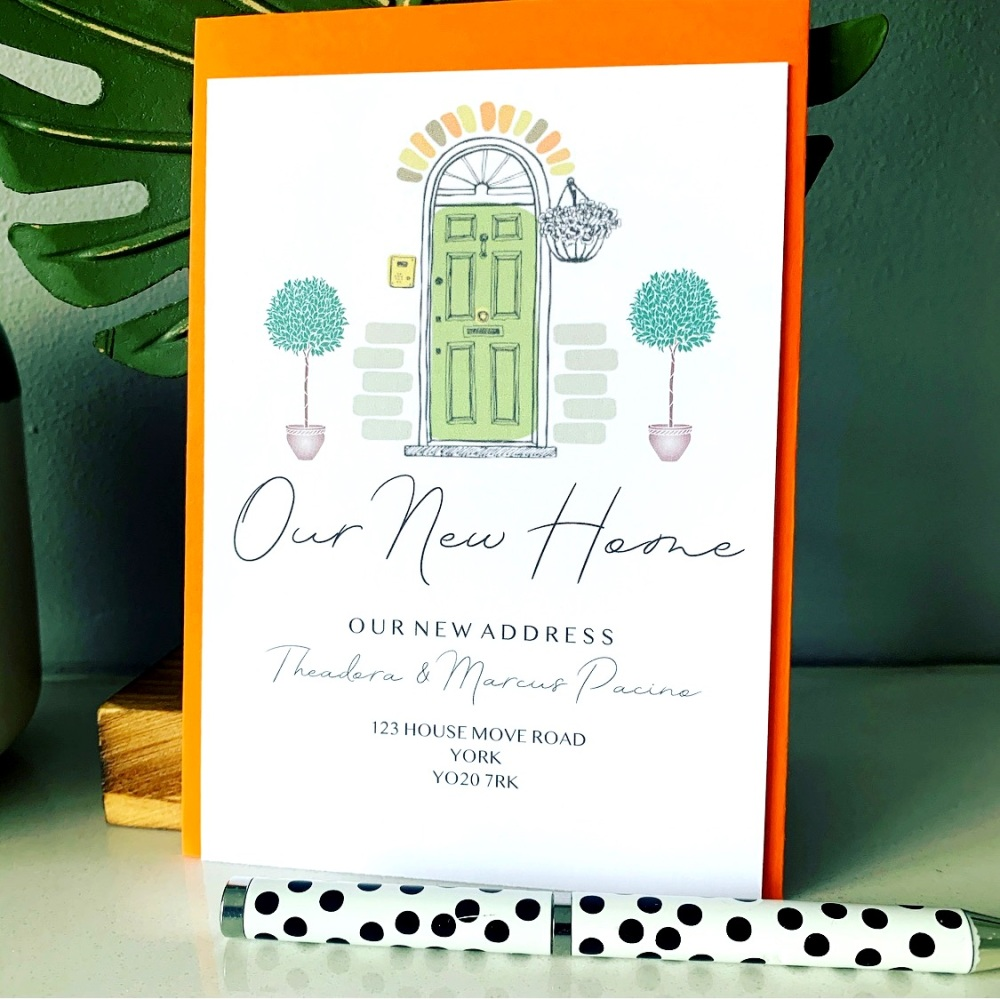10 Change of Address Personalised New Home Cards