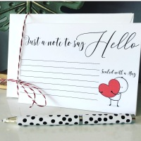 10 Postcard Notecards Sealed with a Hug Notelets Message Cards