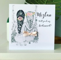 Will you be my Bridesmaid Best Friends Personalised Card