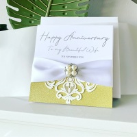Wedding Anniversary Luxury Personalised Card with Gift Box