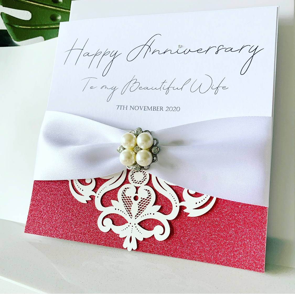 Wedding Anniversary luxury personalised cards