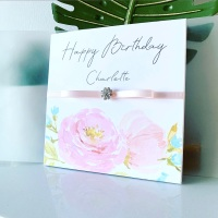 Luxury Personalised Birthday Card