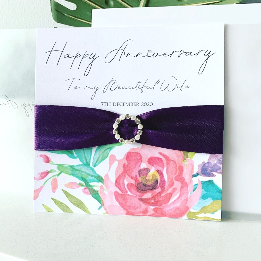Wife Wedding Anniversary Personalised Card