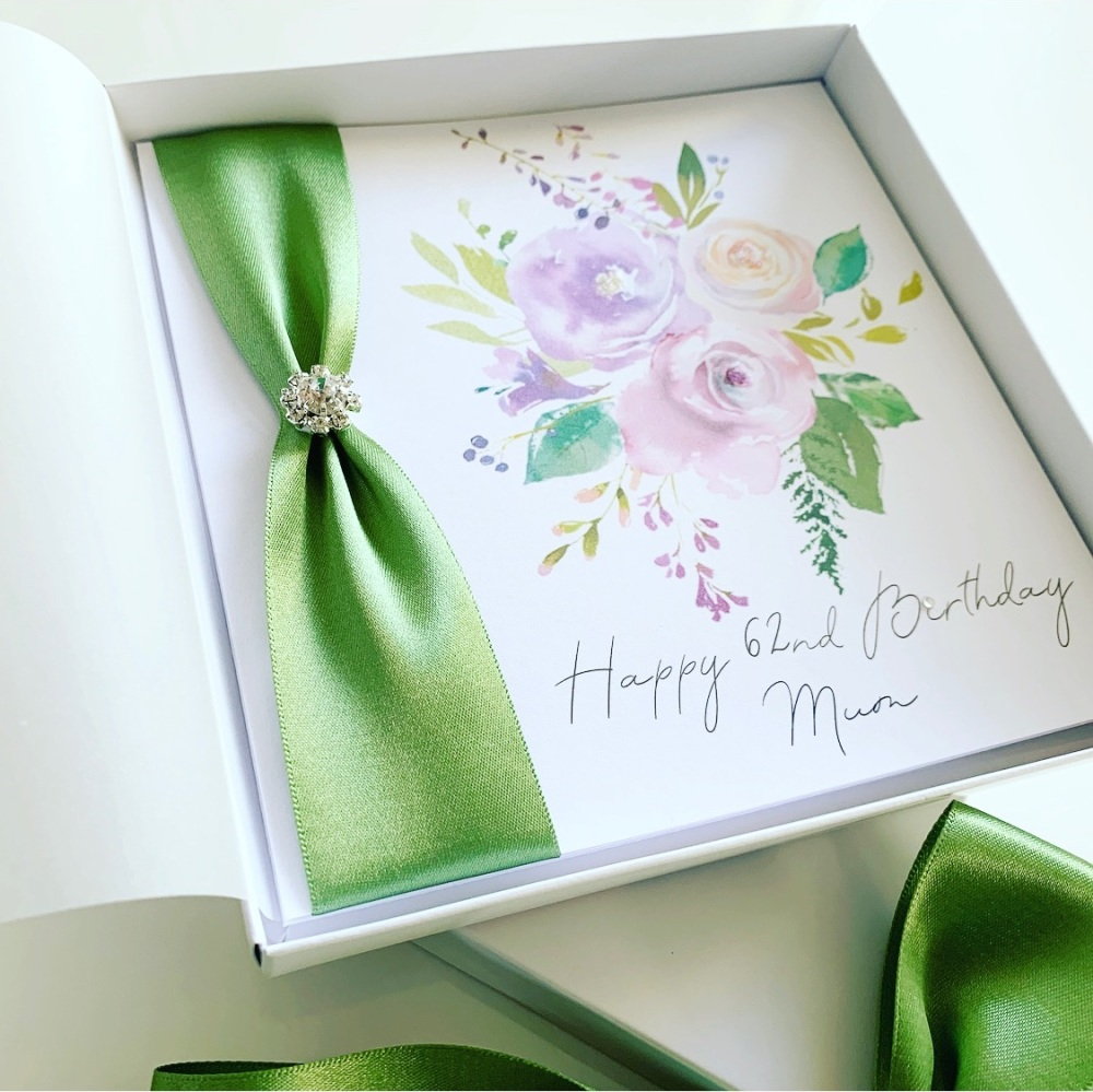 Luxury Floral Birthday Card for Mum