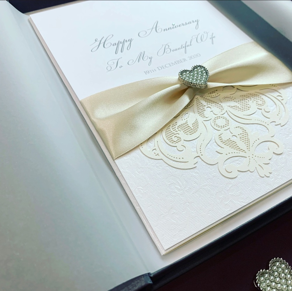 Wedding Anniversary Luxury Boxed Card Large A5