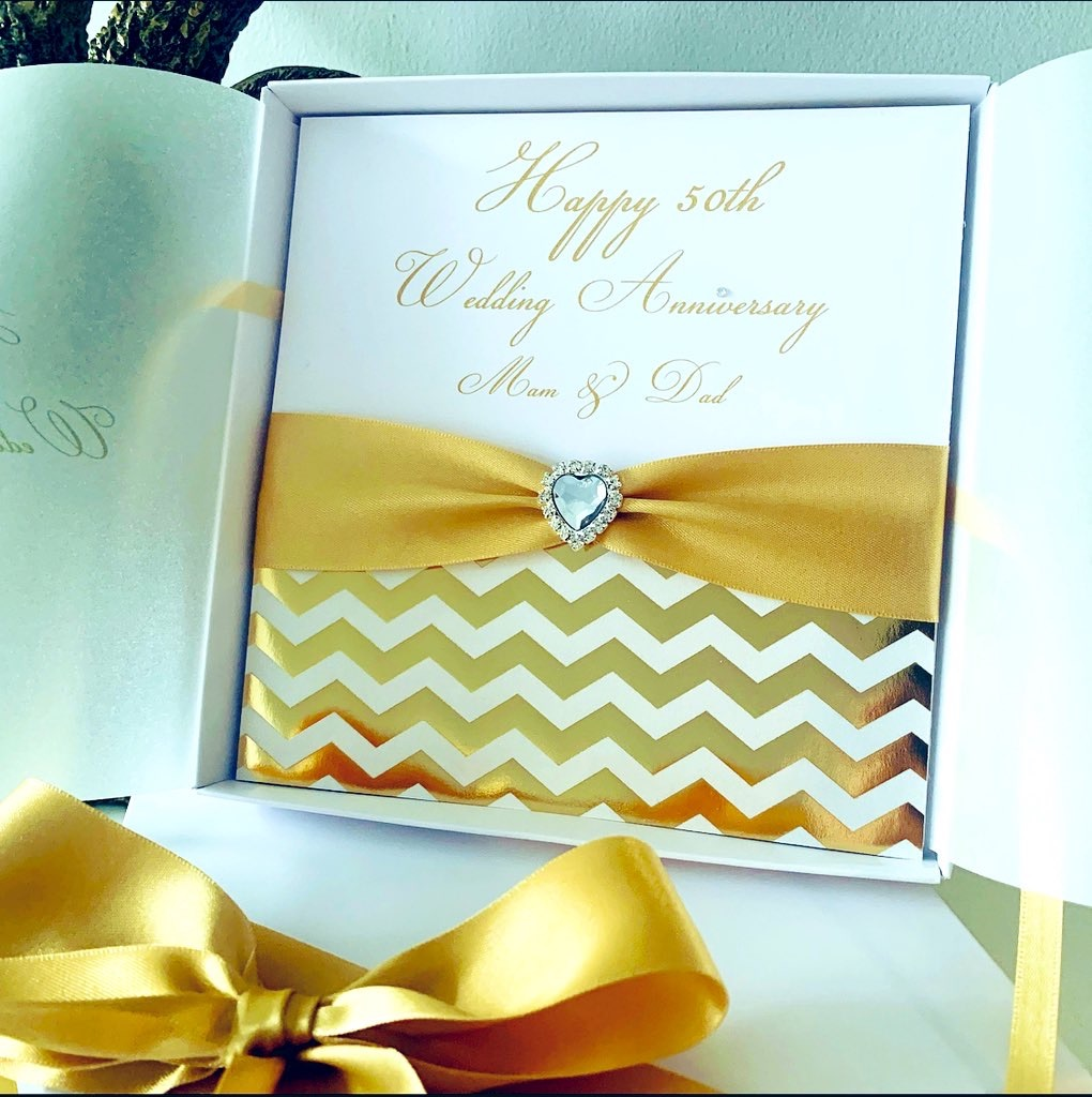 Wedding Anniversary luxury personalised cards