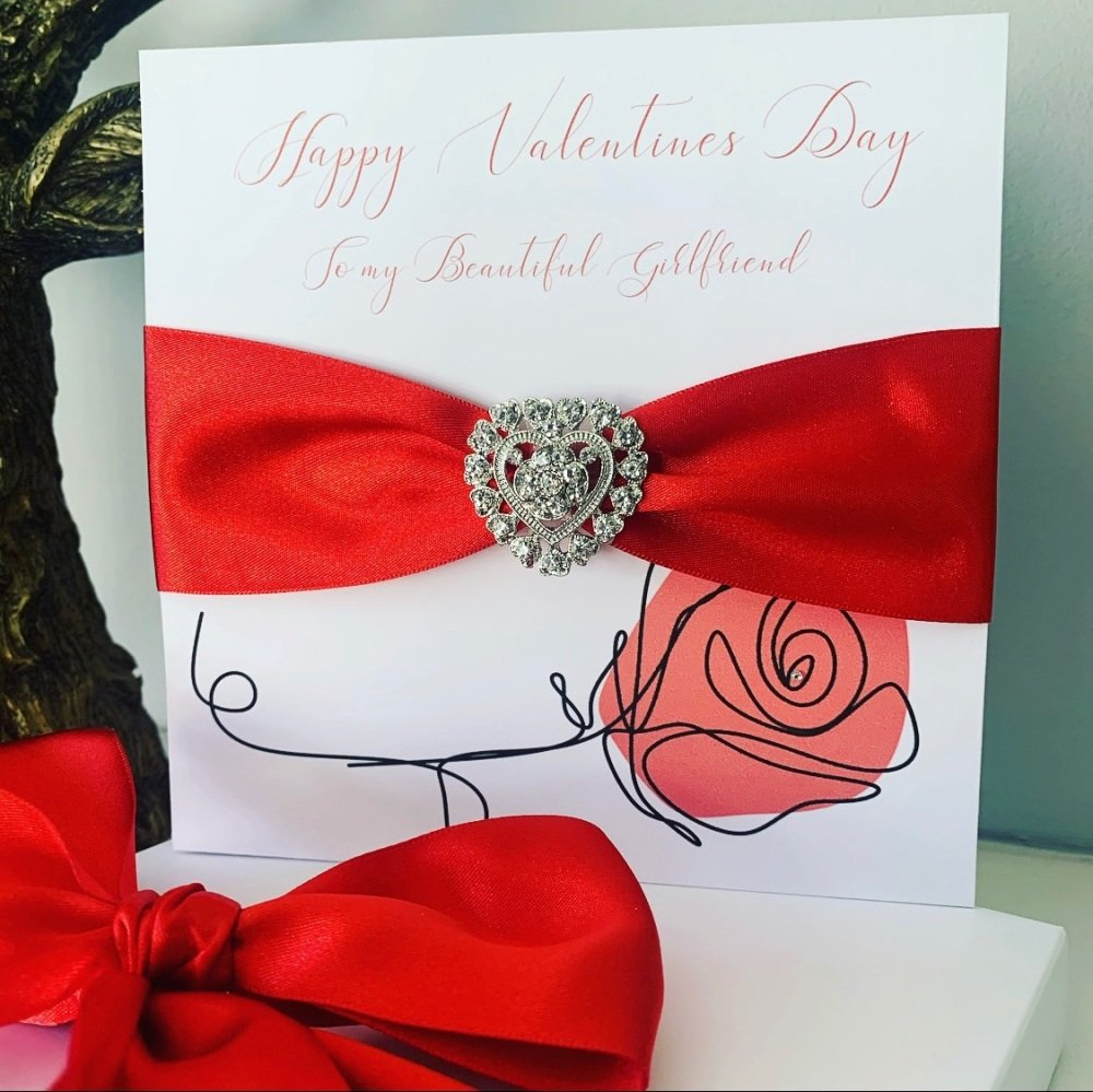 Red Rose Valentines Card