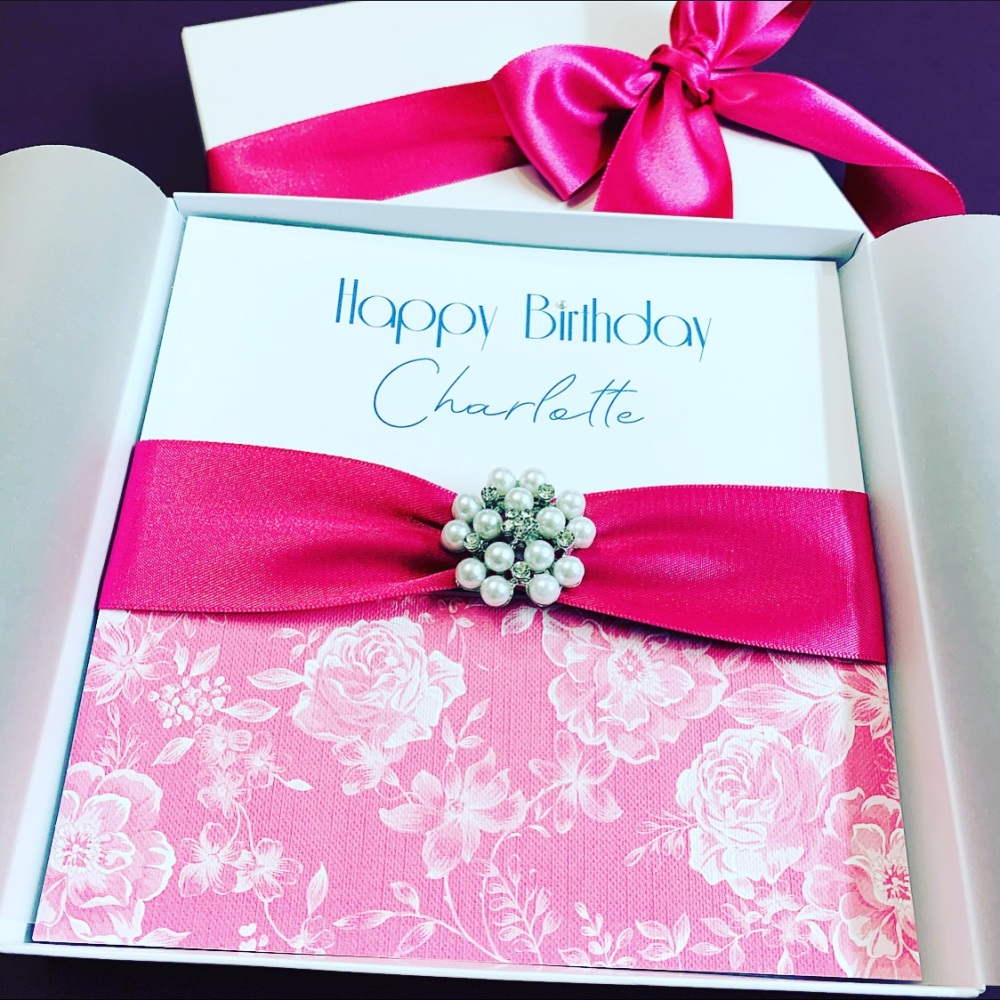 Luxury Birthday Card Personalised with Gift Box