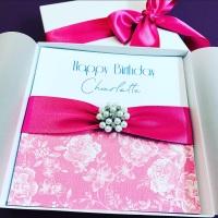 Beautiful Handmade Birthday Card with Gift Box