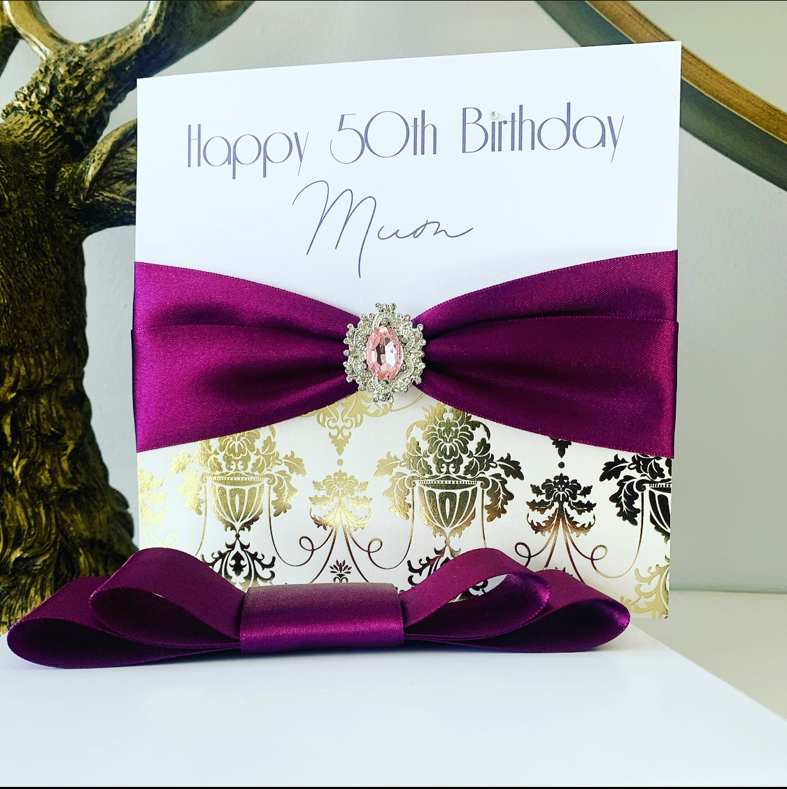 Luxury birthday cards gift boxed and personalised