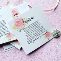Bridesmaids Poem Will you be my Bridesmaid Card