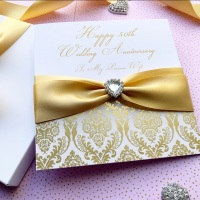50th Wedding Anniversary Card for Wife Husband
