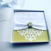 Pearl Wedding Anniversary Personalised Card with Gift Box