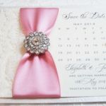 Diamante Romance save the date cards