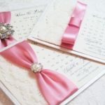 save the date wedding cards in pink