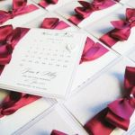 save the date cards with pretty bow