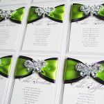 Wedding table plans with diamante butterfly